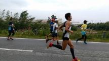 退院明けのハーフマラソン2015
